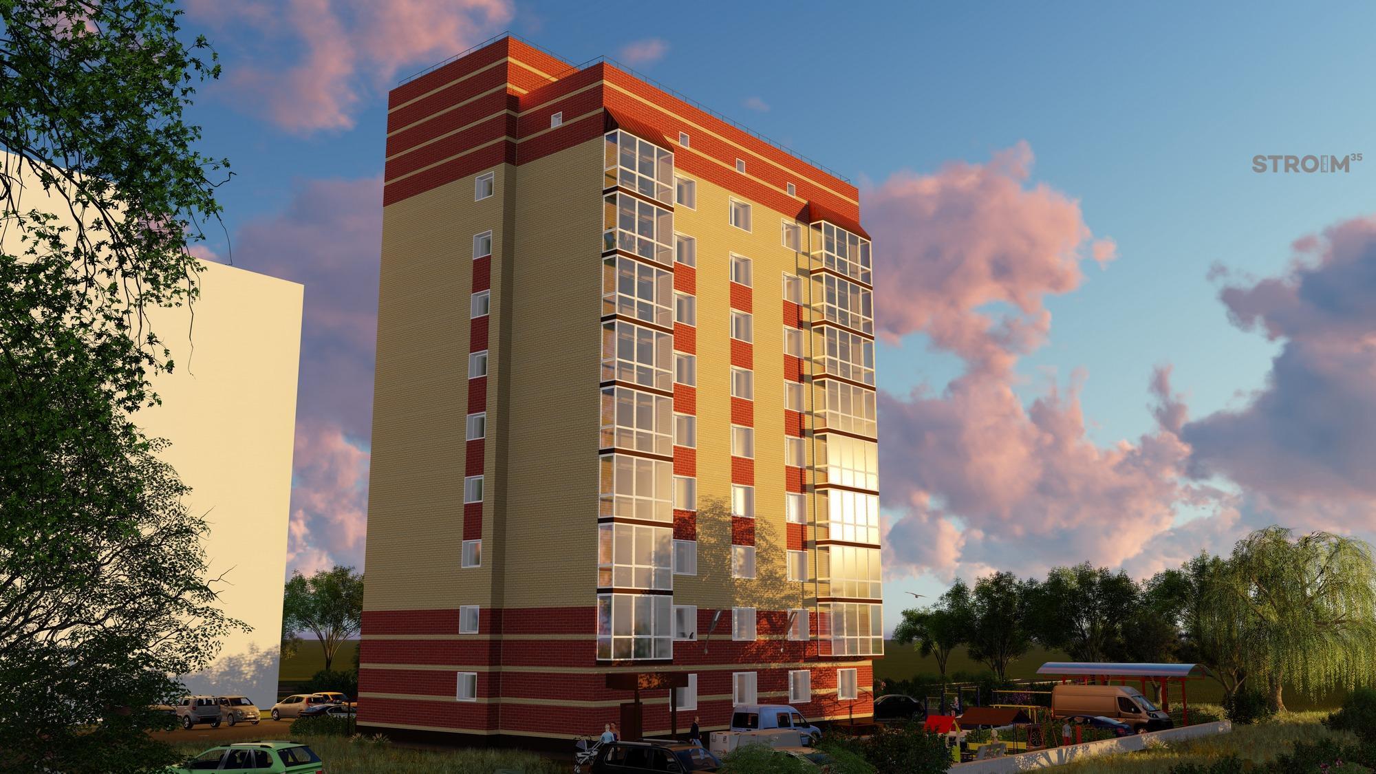 Многоквартирный жилой дом по ул. Гончарная (Шекснинская, 14)