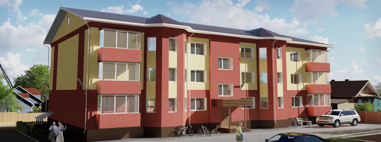 15-квартирный жилой дом по пер. Майский, 4 (район ул. Гагарина)